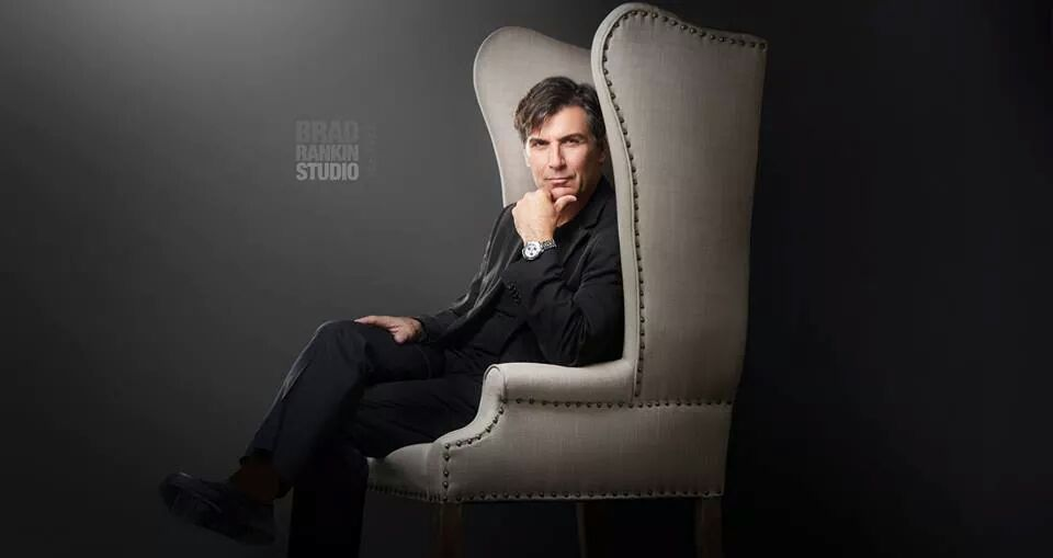 Vincent - Grey Wingback Chair (Brad Rankin Photography)